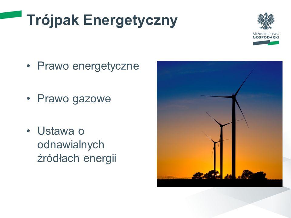 Trójpak Energetyczny Prawo energetyczne Prawo gazowe