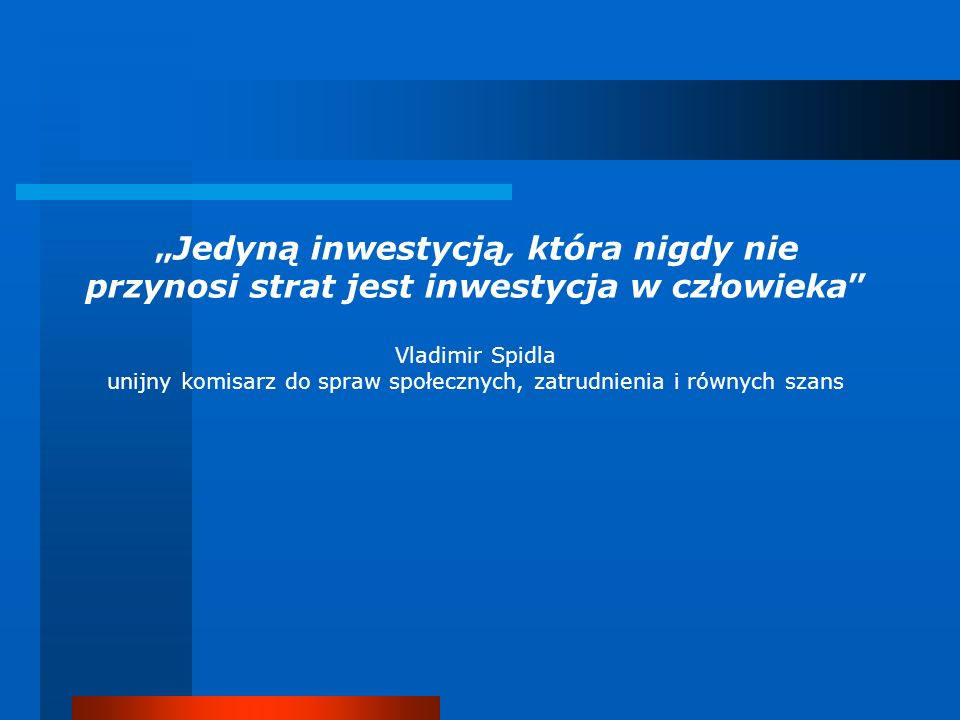 unijny komisarz do spraw społecznych, zatrudnienia i równych szans