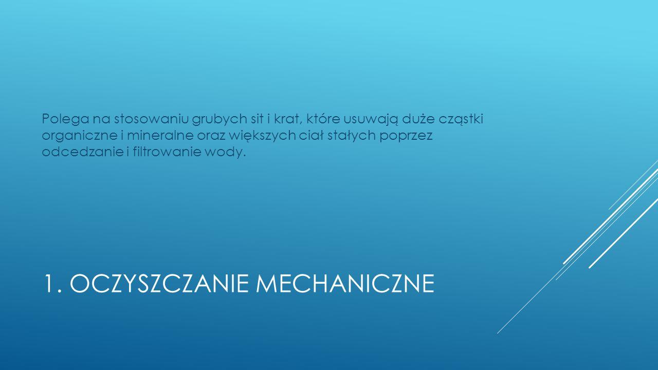 1. Oczyszczanie mechaniczne