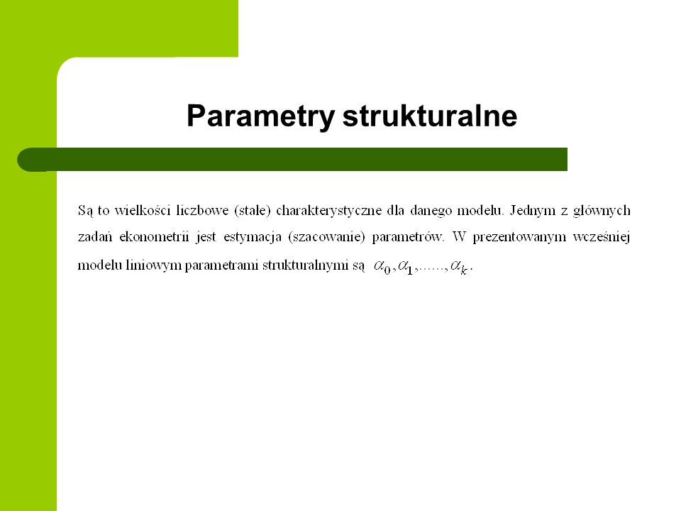 Parametry strukturalne