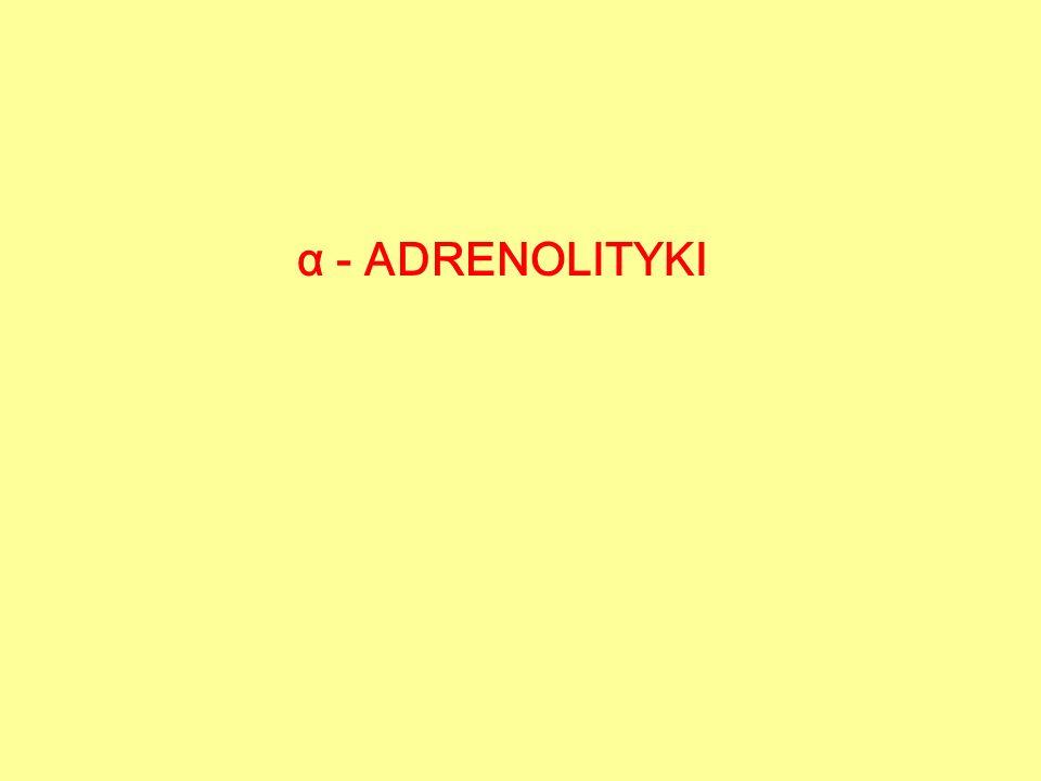 α - ADRENOLITYKI