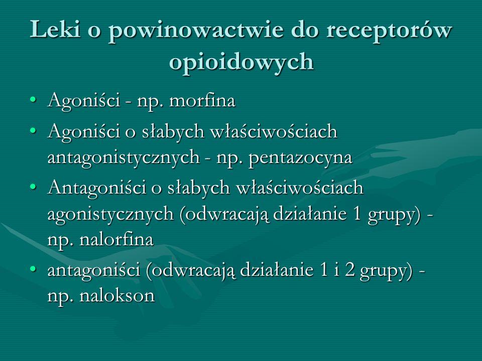 Leki o powinowactwie do receptorów opioidowych