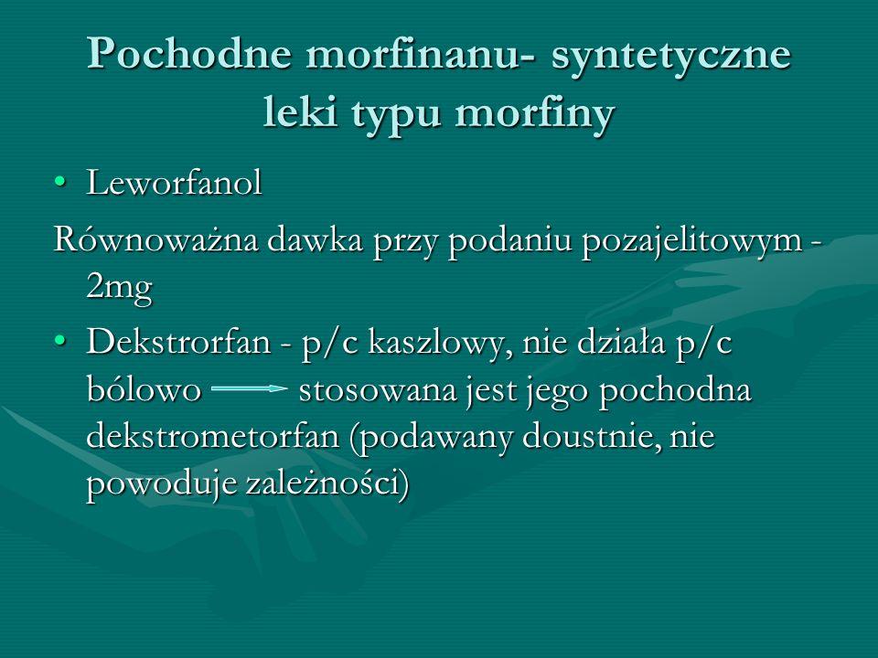 Pochodne morfinanu- syntetyczne leki typu morfiny