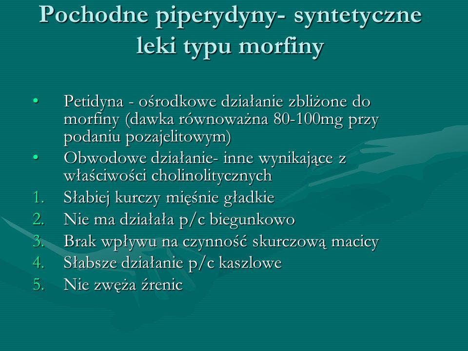 Pochodne piperydyny- syntetyczne leki typu morfiny