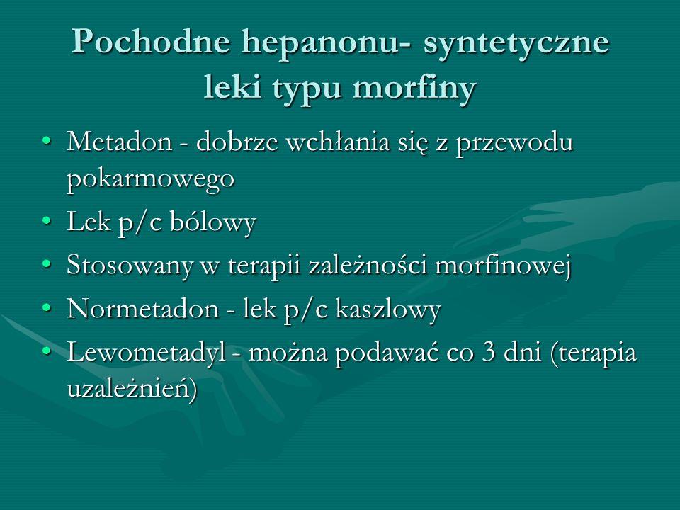 Pochodne hepanonu- syntetyczne leki typu morfiny