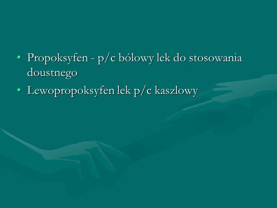 Propoksyfen - p/c bólowy lek do stosowania doustnego