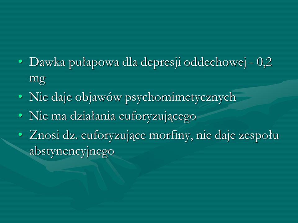 Dawka pułapowa dla depresji oddechowej - 0,2 mg
