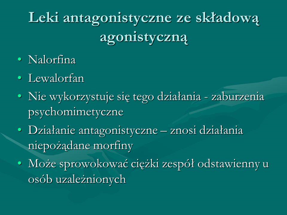 Leki antagonistyczne ze składową agonistyczną