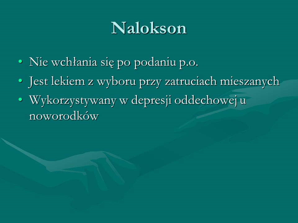Nalokson Nie wchłania się po podaniu p.o.
