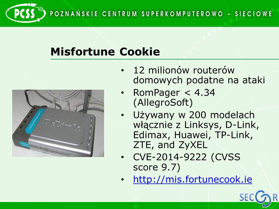 Misfortune Cookie 12 milionów routerów domowych podatne na ataki