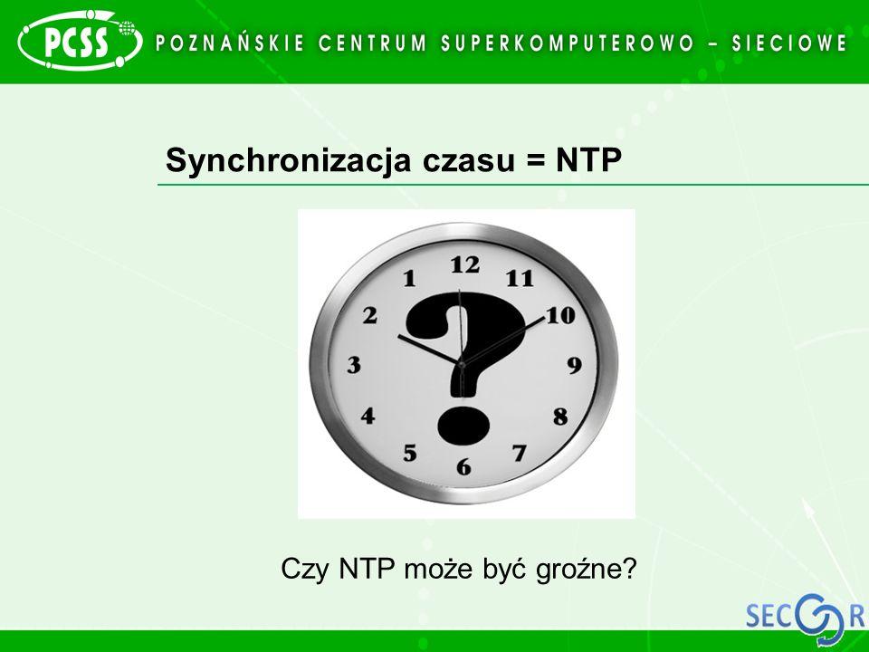 Synchronizacja czasu = NTP