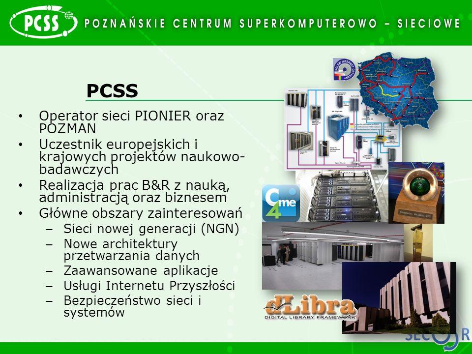 PCSS Operator sieci PIONIER oraz POZMAN