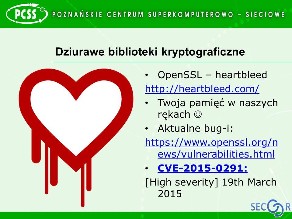 Dziurawe biblioteki kryptograficzne