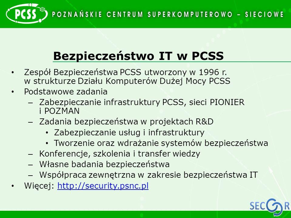 Bezpieczeństwo IT w PCSS
