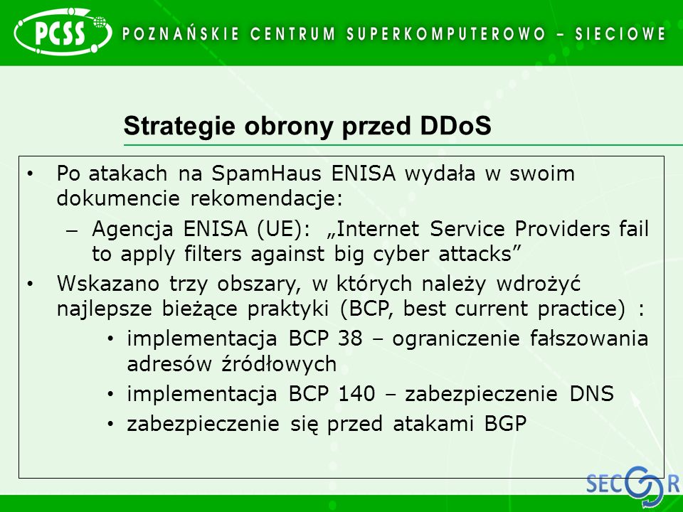Strategie obrony przed DDoS