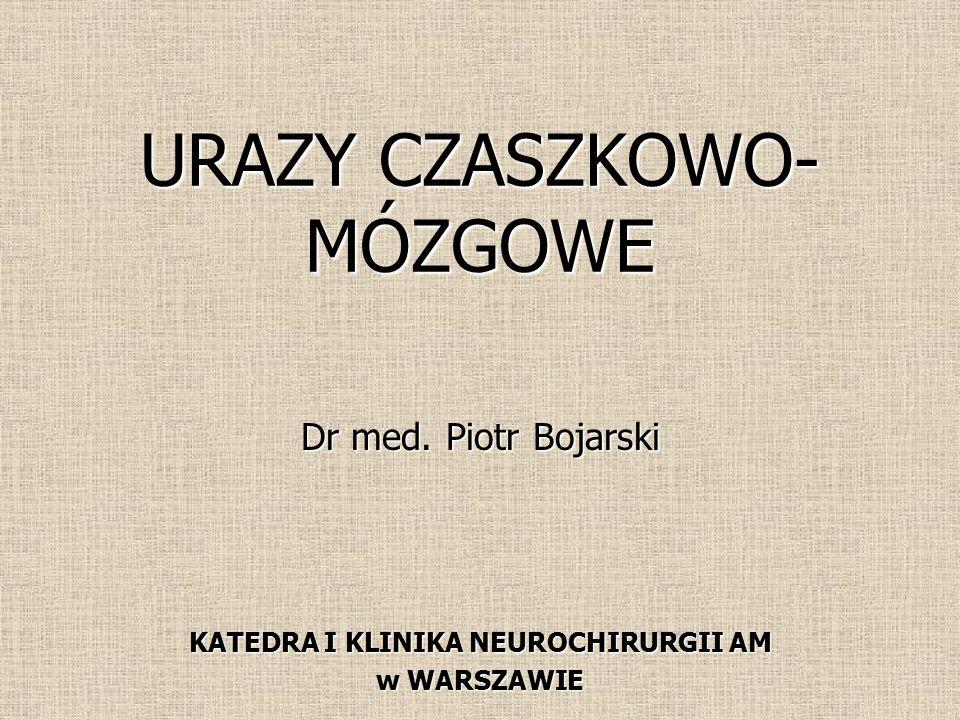 URAZY CZASZKOWO- MÓZGOWE