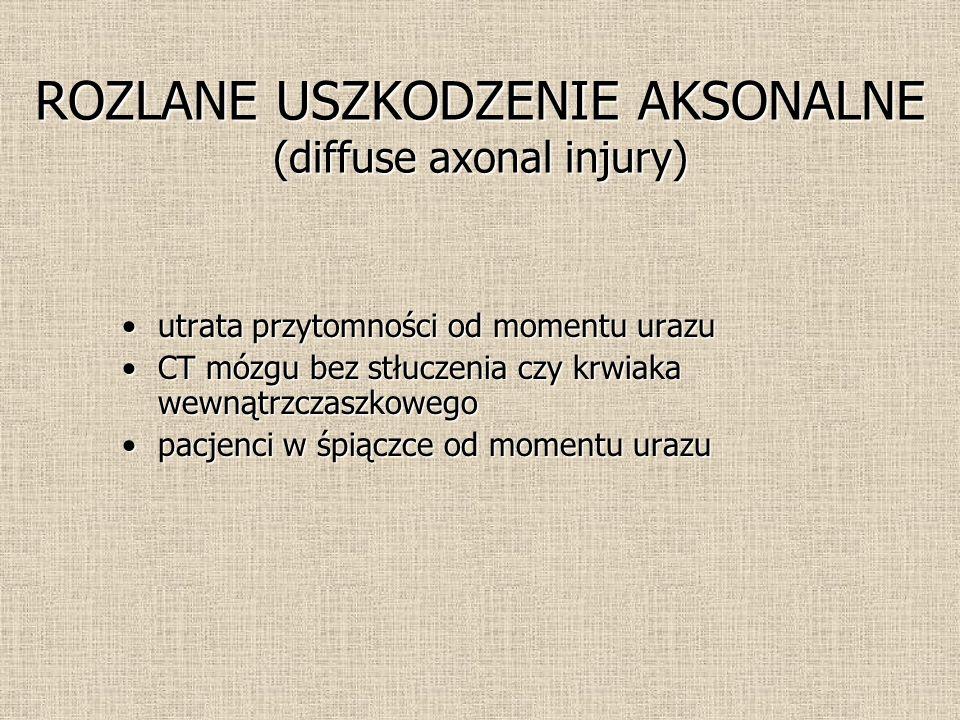 ROZLANE USZKODZENIE AKSONALNE (diffuse axonal injury)