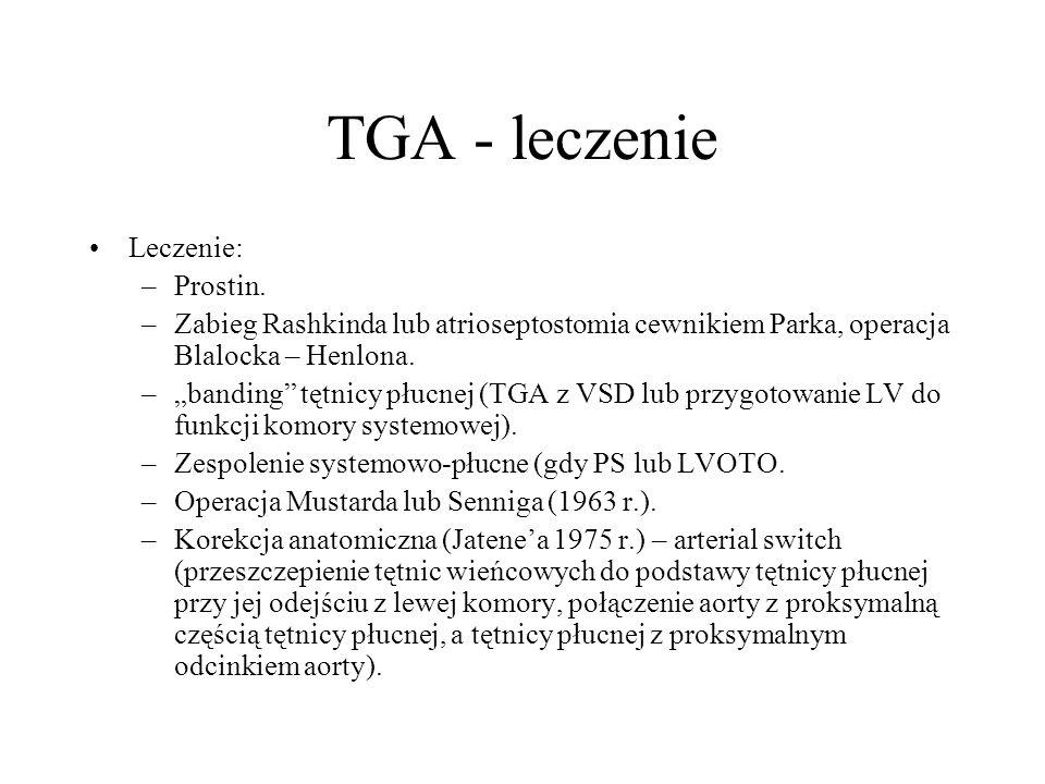 TGA - leczenie Leczenie: Prostin.