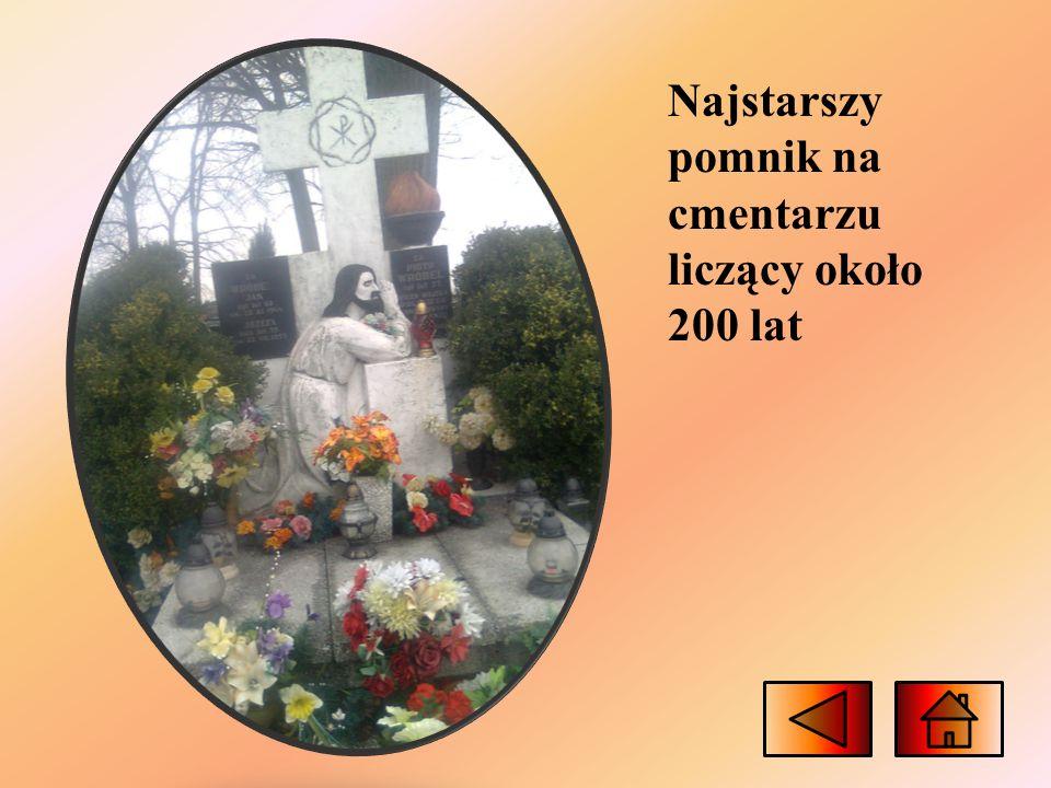 Najstarszy pomnik na cmentarzu liczący około 200 lat
