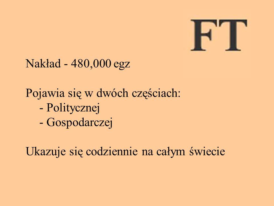 Nakład - 480,000 egz Pojawia się w dwóch częściach: - Politycznej.