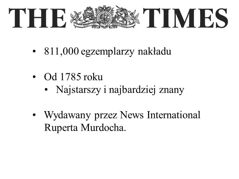 811,000 egzemplarzy nakładu Od 1785 roku. Najstarszy i najbardziej znany. Wydawany przez News International.