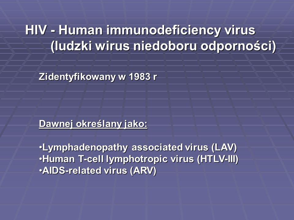 HIV - Human immunodeficiency virus (ludzki wirus niedoboru odporności)