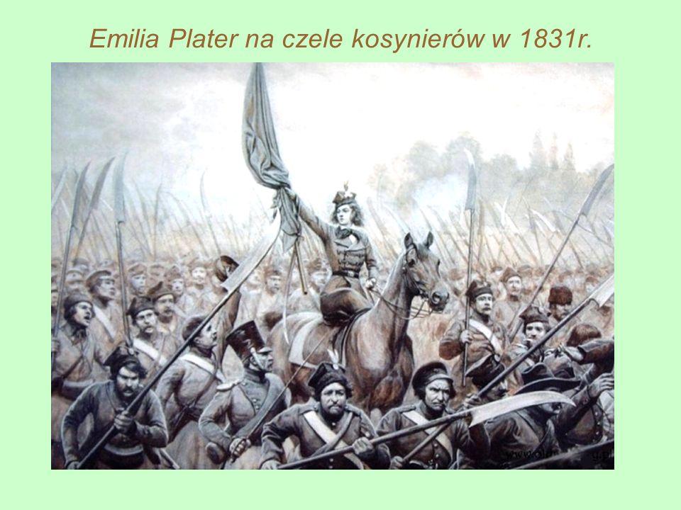 Emilia Plater na czele kosynierów w 1831r.