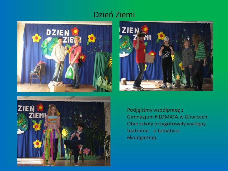 Dzień Ziemi Podjęliśmy współpracę z Gimnazjum FILOMATA w Gliwicach.