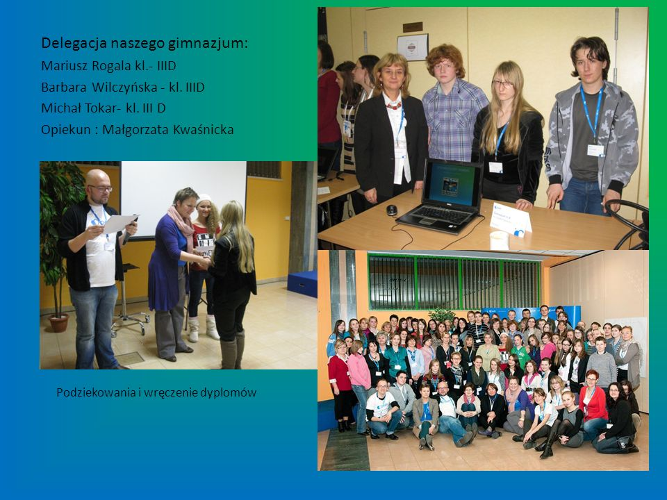 Delegacja naszego gimnazjum: