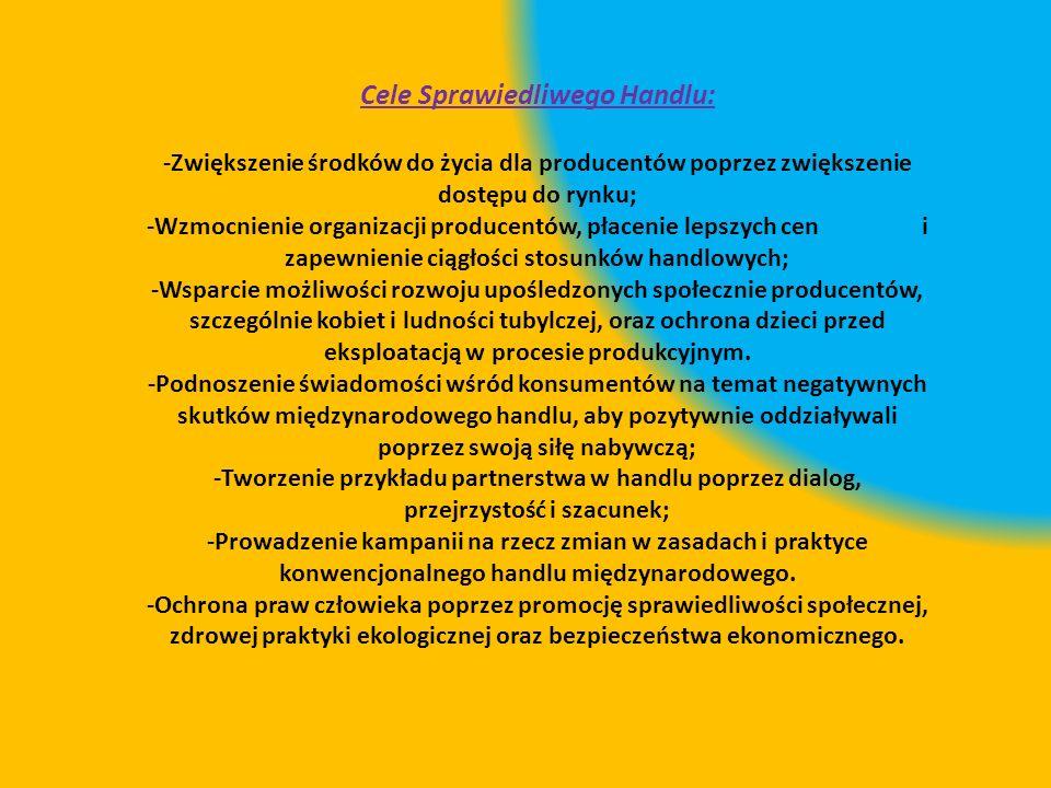 Cele Sprawiedliwego Handlu: