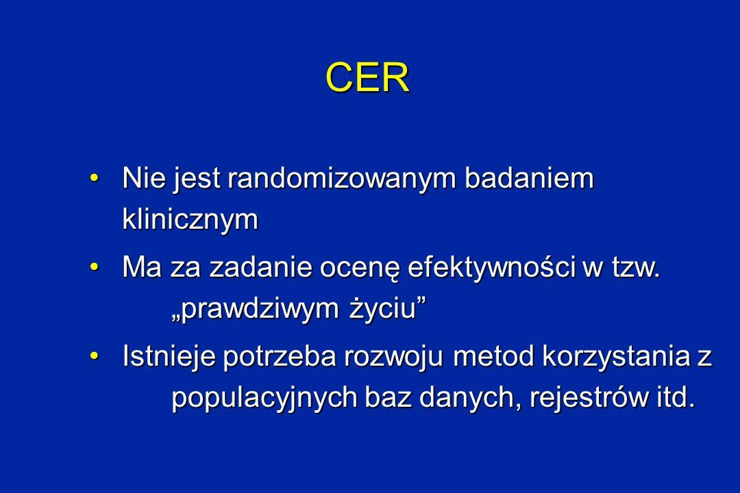 CER Nie jest randomizowanym badaniem klinicznym