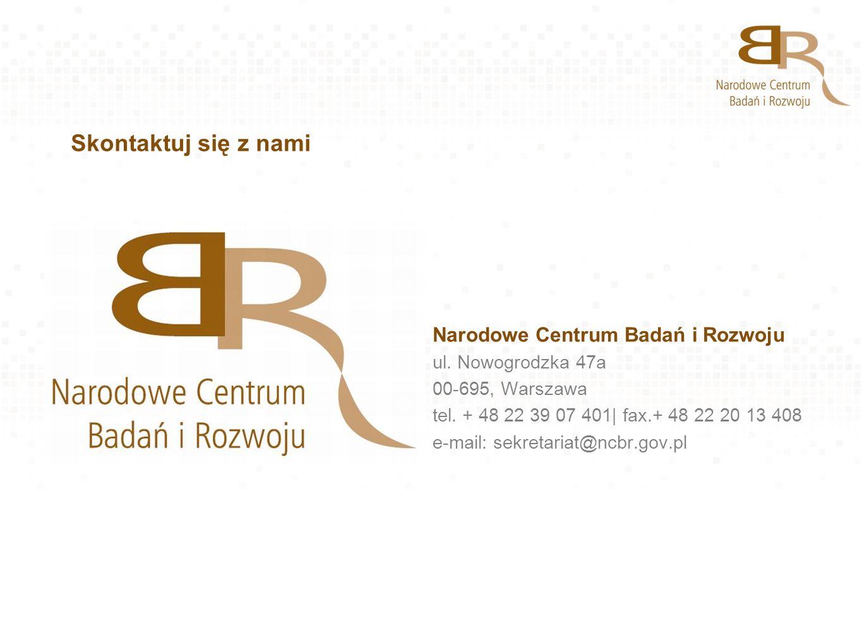 Skontaktuj się z nami Narodowe Centrum Badań i Rozwoju