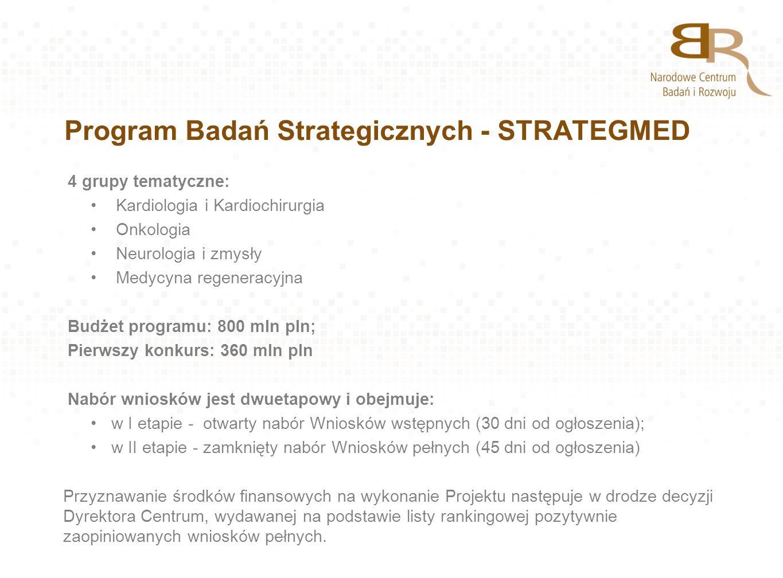 Program Badań Strategicznych - STRATEGMED