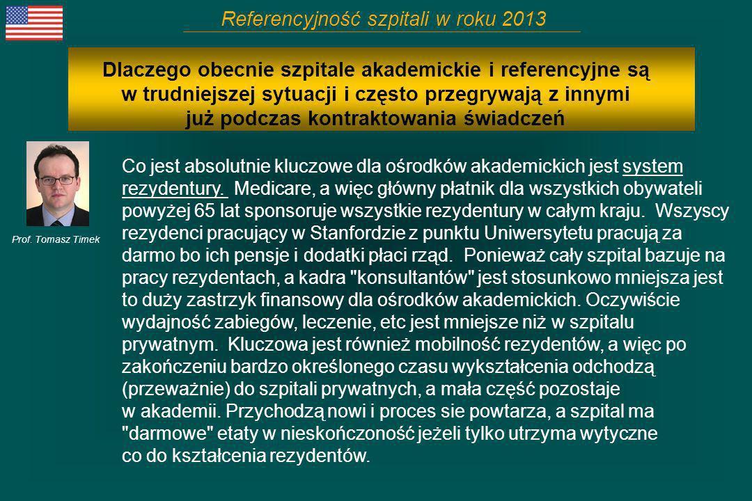 Referencyjność szpitali w roku 2013