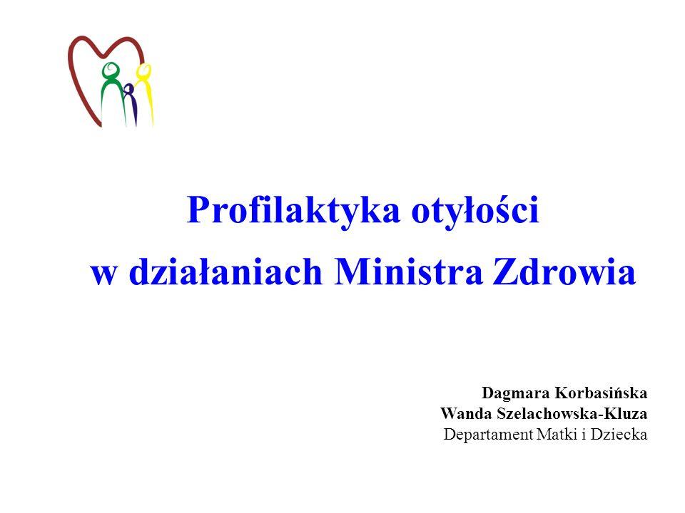 Profilaktyka otyłości w działaniach Ministra Zdrowia