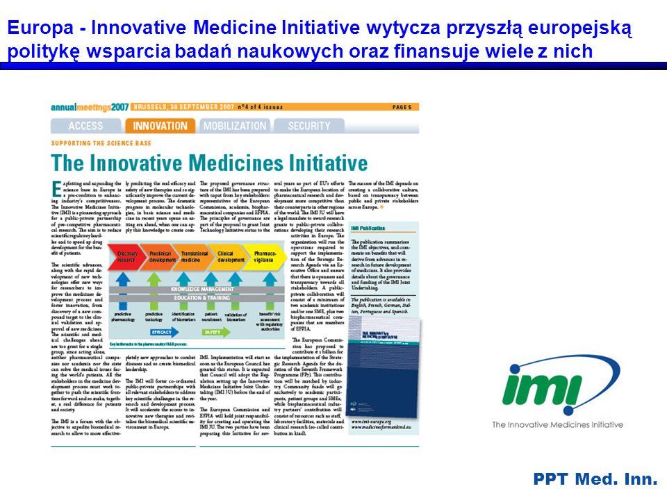 Europa - Innovative Medicine Initiative wytycza przyszłą europejską politykę wsparcia badań naukowych oraz finansuje wiele z nich