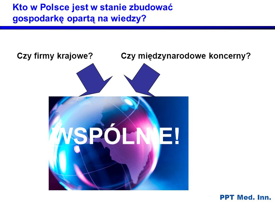 Kto w Polsce jest w stanie zbudować gospodarkę opartą na wiedzy