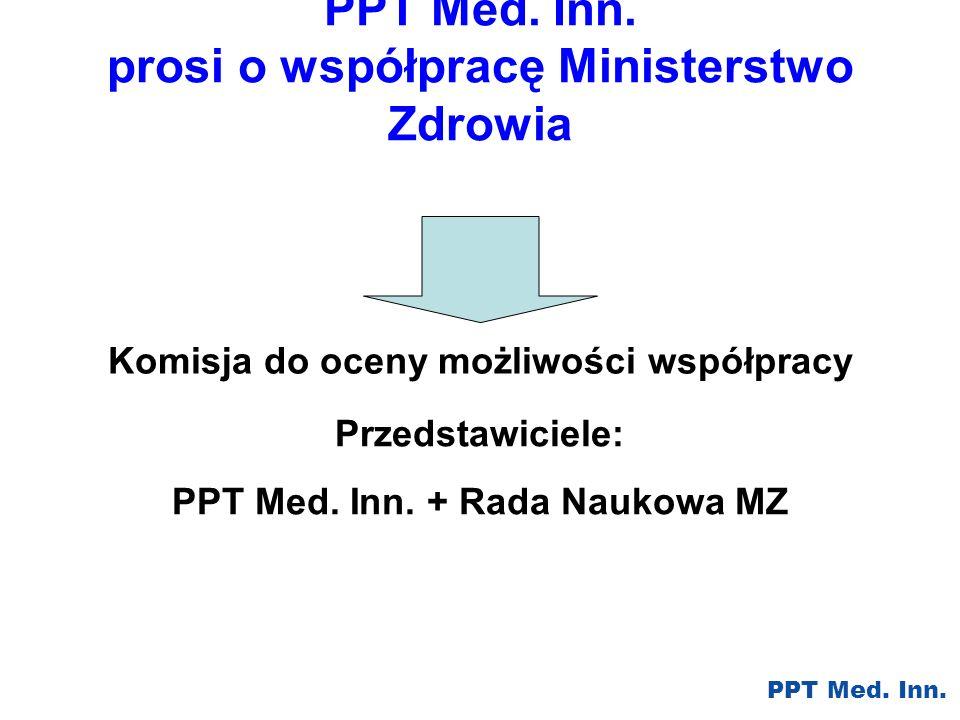 PPT Med. Inn. prosi o współpracę Ministerstwo Zdrowia