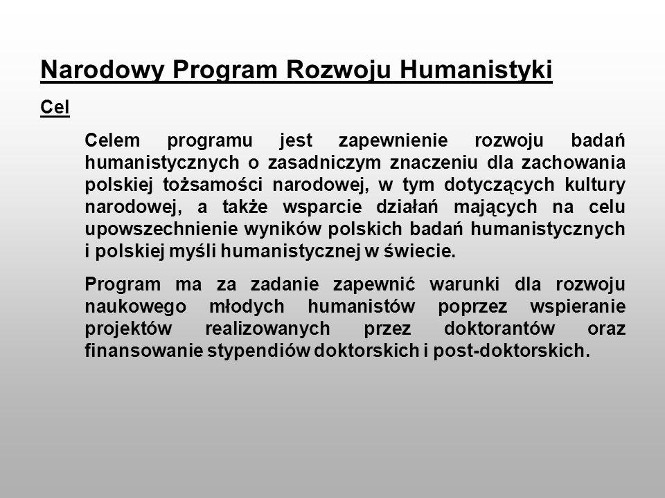 Narodowy Program Rozwoju Humanistyki
