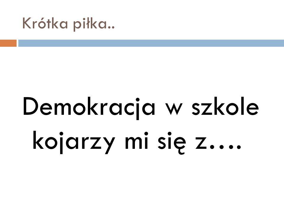 Demokracja w szkole kojarzy mi się z….