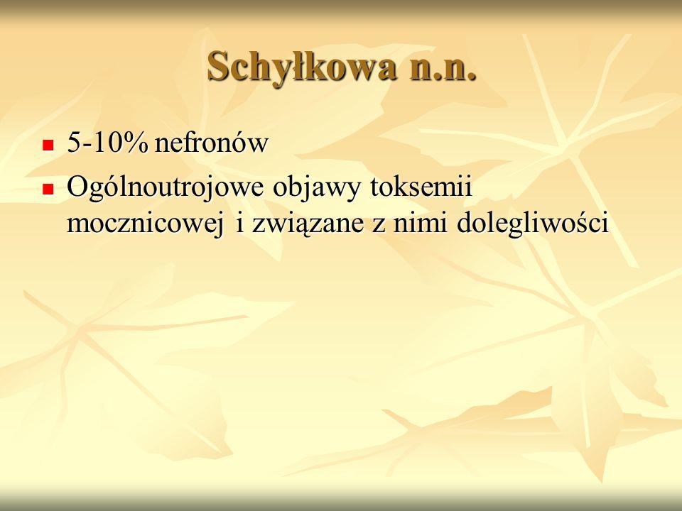 Schyłkowa n.n. 5-10% nefronów
