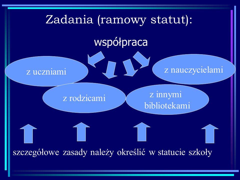 Zadania (ramowy statut):