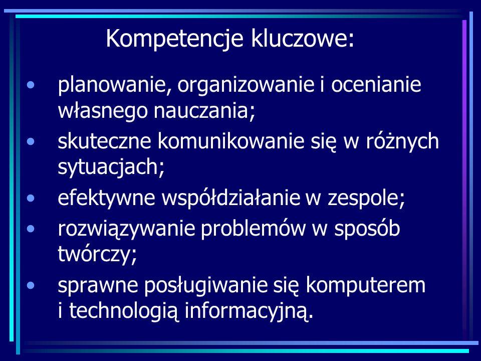 Kompetencje kluczowe: