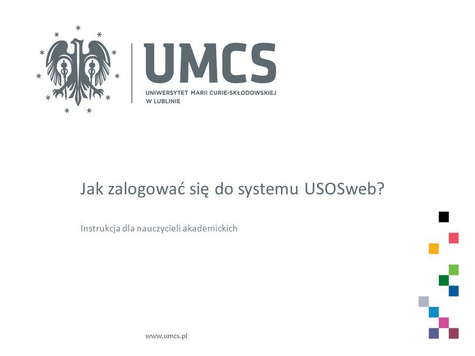Jak zalogować się do systemu USOSweb