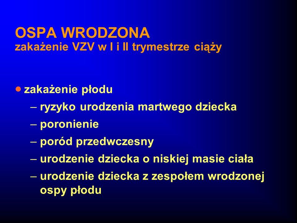 OSPA WRODZONA zakażenie VZV w I i II trymestrze ciąży