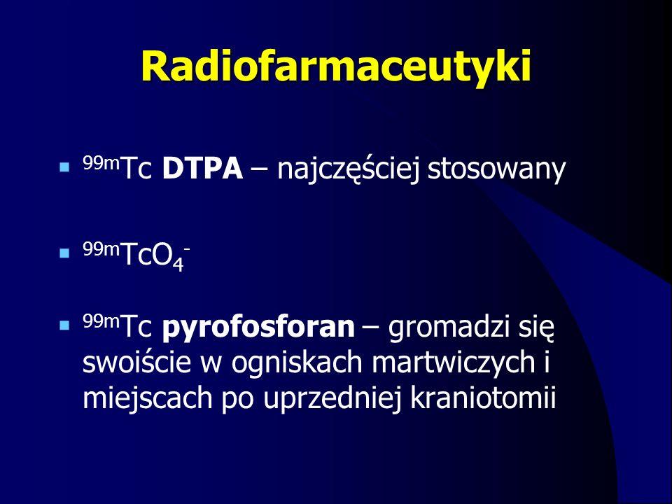Radiofarmaceutyki 99mTc DTPA – najczęściej stosowany 99mTcO4-