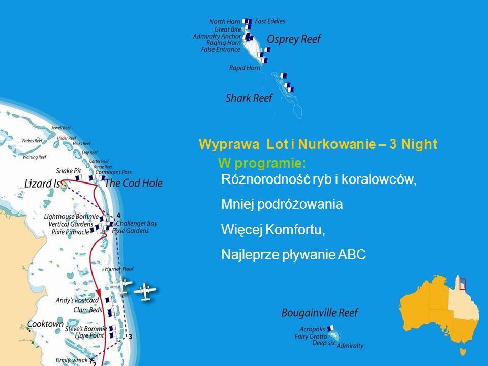 Wyprawa Lot i Nurkowanie – 3 Night