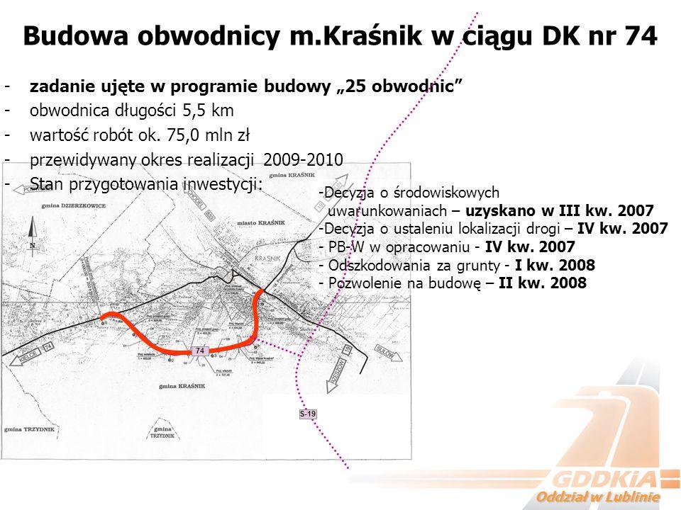 Budowa obwodnicy m.Kraśnik w ciągu DK nr 74