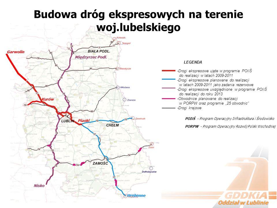 Budowa dróg ekspresowych na terenie woj.lubelskiego
