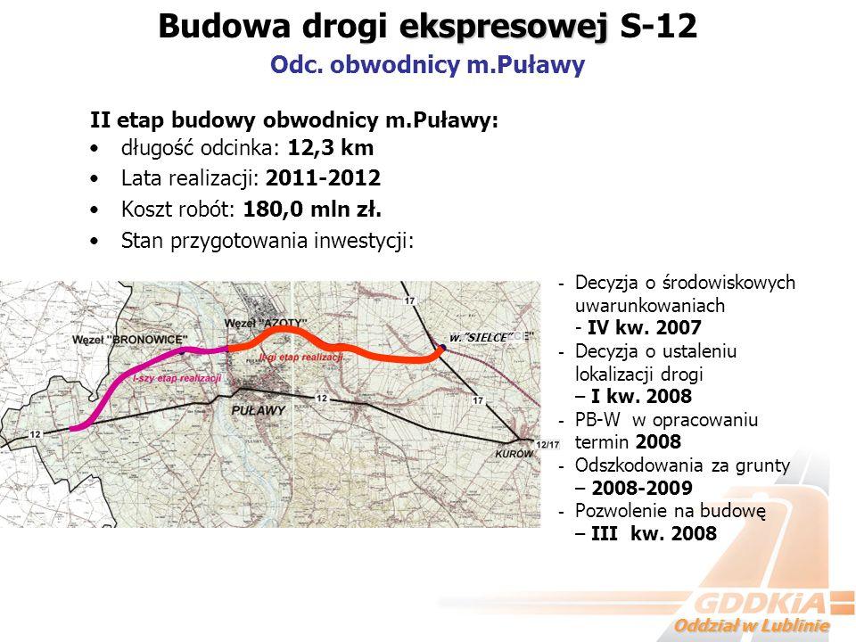 Budowa drogi ekspresowej S-12